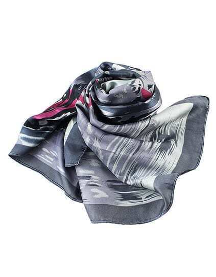 New Style Gray Thin Women Fashionable Scarf