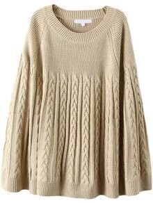 Cable Knit Cope Apricot Sweater