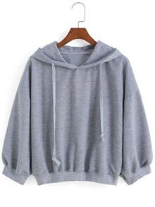 sudadera relax fit capucha-gris