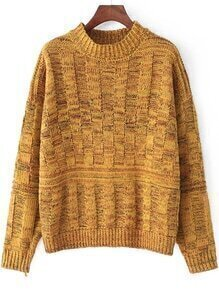 Chunky Knit Vintage Yellow Sweater