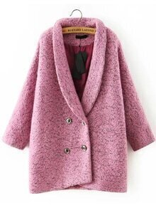 Lapel Double Breasted Loose Coat