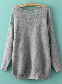 Boat Neck Open-Knit Sweater