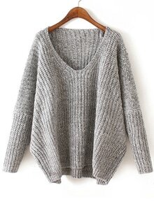 jersey pico Dolman-gris