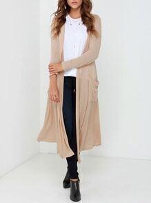 Apricot Long Sleeve Loose Knit Cardigan