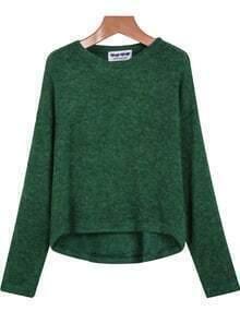 Green Long Sleeve Loose Knit Sweater