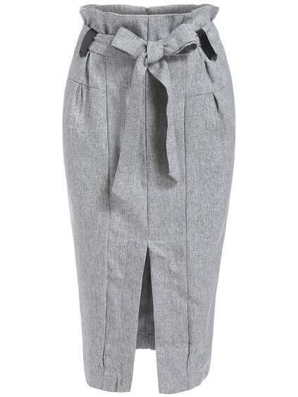 High Waist Bow Skirt 97
