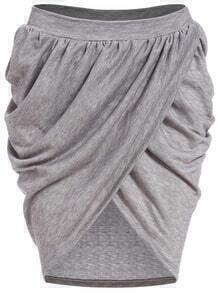 Elastic Waist Wraped Skirt