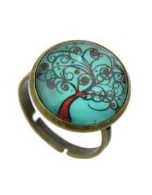 Lakeblue Amber Style Adjustable Tree Shape Rings For Women