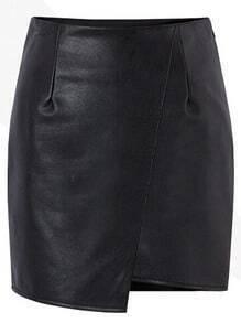 Slim Asymmetrical PU Skirt