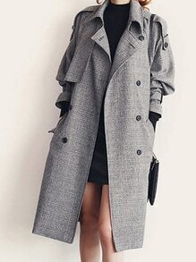 Lapel Double Breasted Coat