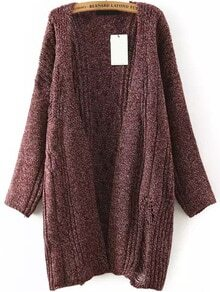 Long Sleeve Hollow Red Coat