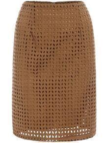 Slit Back Hollow Skirt