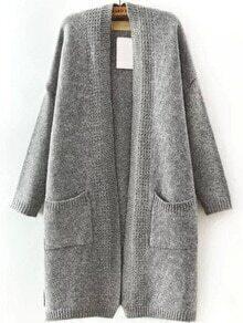 Long Sleeve Slit Side Pockets Coat