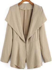 Lapel Open Front Bow Tiered Coat