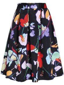 Florals Zipper Skirt