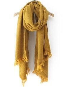 Frayed Yellow Scarf