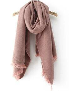 Frayed Pink Scarf
