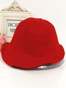 Vintage Wool Boater Red Hat