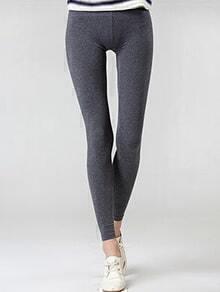 Elastic Waist Slim Grey Leggings