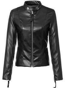 Stand Collar Zipper Slim Jacket