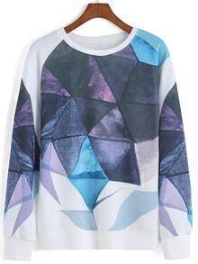 Round Neck Patchwork Sweatshirt