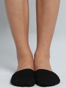 Black Boat Socks