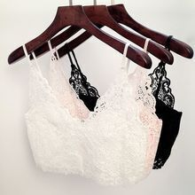 Must have basic lace crop top-Black