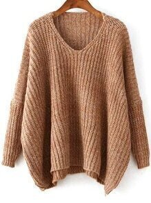 jersey pico dolman-marrón