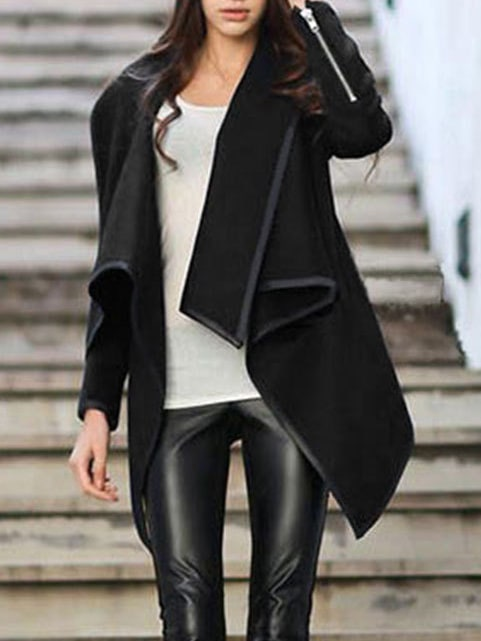 Black Asymmetrical Jacket - JacketIn