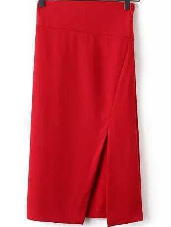 Falda tubo cropped rojo spanish romwe for Tubo corrugado rojo precio