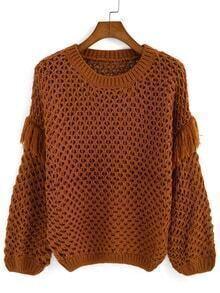 Tassel Hollow Loose Sweater