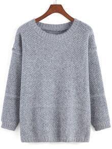 Round Neck Loose Sweater