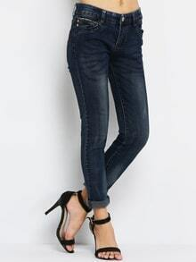 Scratch Denim Slim Pant