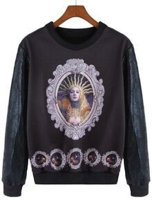 Beauty Print Diamond Sweatshirt