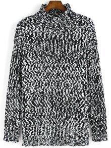 Polo Neck Long Sleeve Sweater