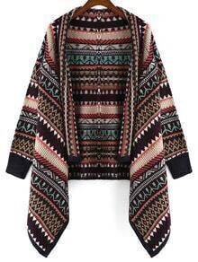 Diamond Crochet Black Coat