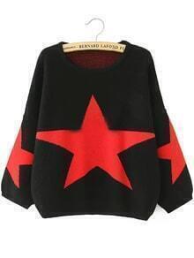 Stars Pattern Loose Sweater