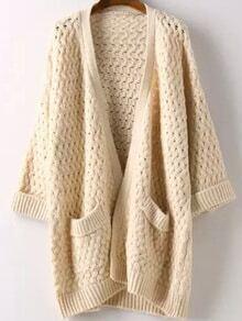 abrigo hueco bolsillos-beige