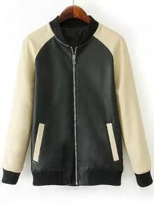 Color-block Zipper Jacket