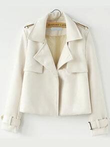 Lapel Buckle Crop Jacket