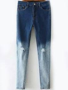 Ripped Ombre Denim Pant