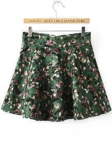 Florals Flare Skirt Shorts