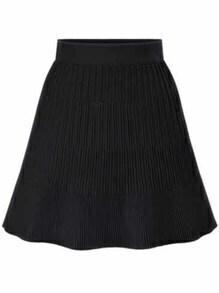 knit A-Line Black Skirt