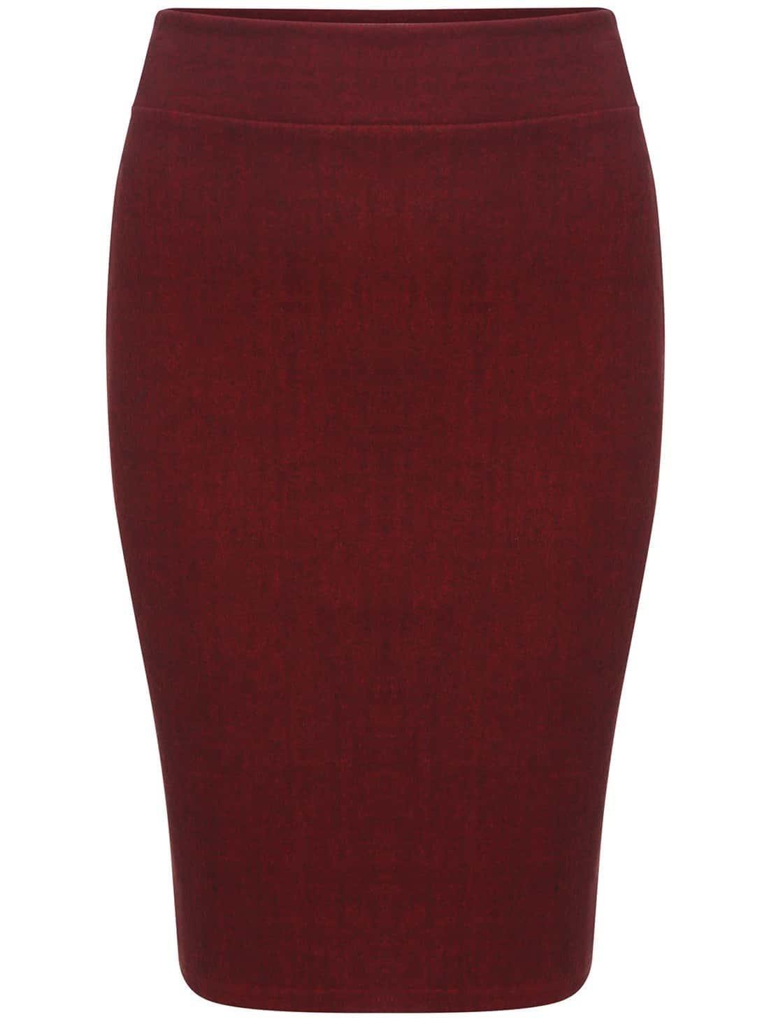 Falda tubo trenzado rojo spanish romwe for Tubo corrugado rojo precio