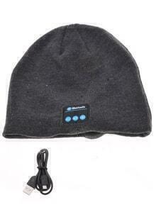 Sweater Bluetooth Headphones Grey Hat