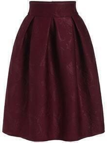 Paisley Jacquard Zipper Skirt