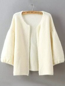 Knit Bead Beige Coat