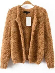 Crop Knit Khaki Cardigan