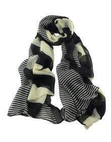 Stripe Voile Fashionable Woman Scarf
