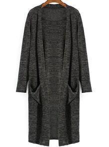 Pockets Long Grey Sweater